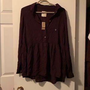 American Eagle Long Sleeve Tunic Shirt
